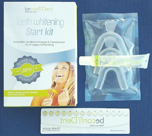 vita tanden förklarar tandblekning med skena