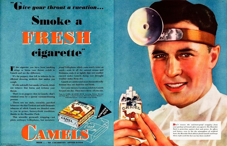Röker du och fått missfärgade tänder? På 1930-talet så fanns det inga bevis (inte offentligt iaf...) för ett sammanband. Det gör det idag och det finns en lösning.
