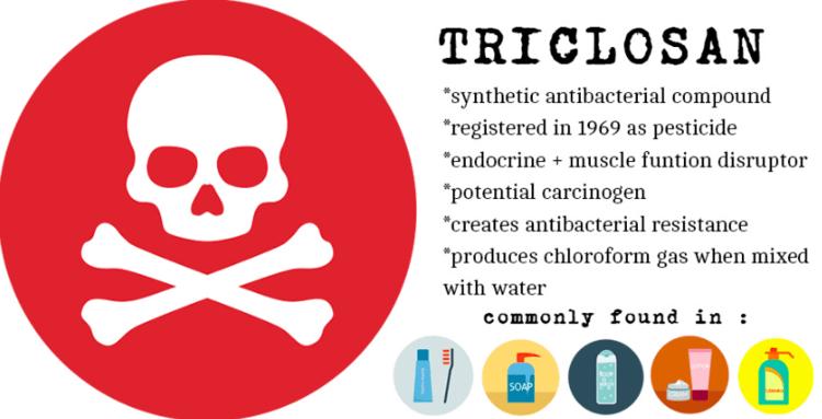 Triklosan har flera hemska biverkningar och används bla. i tandkräm.
